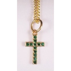 Cross pendant with Green...