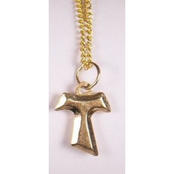 Gold plated Tau cross...