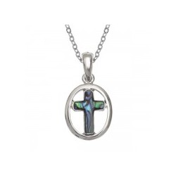 Blue Shell cross pendant....