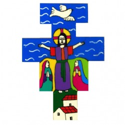 10 cm Hand Painted Risen Christ Cross