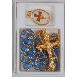 Blue Holy Communion Rosary...