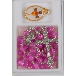 Pink Bead Communion Rosary...