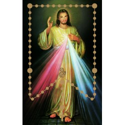 Plastic Rosary Prayer Card....