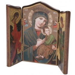 Our Lady of Perpetual Succour Icon. Triptych Icon.