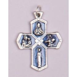 Blue Enamelled Cross Medal....