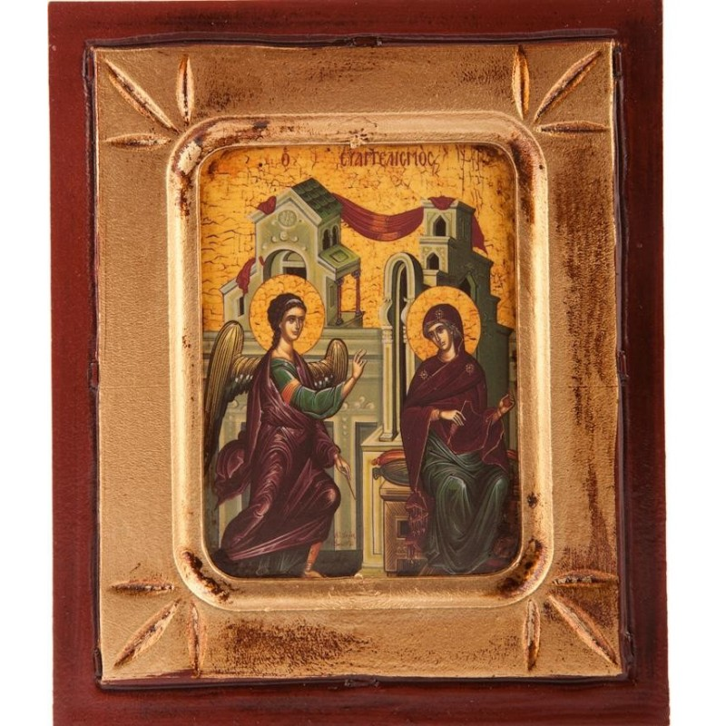 Wood Icon of the Annunciation