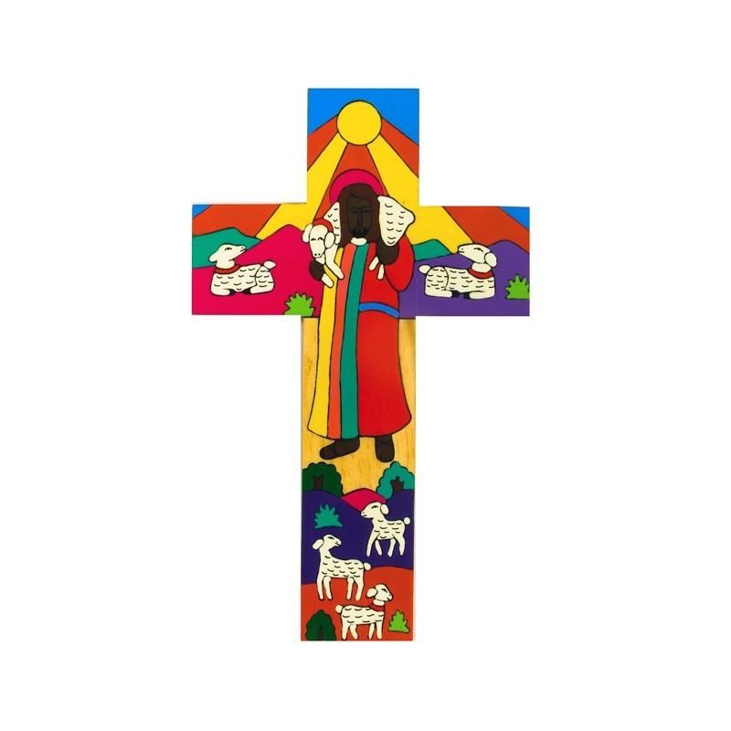 10 cms Modern Good Shepherd Cross