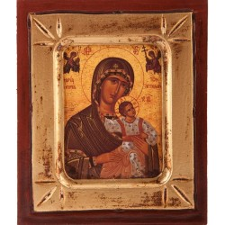 Wood Icon of Our Lady and Child