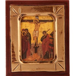 Wood Icon of the Crucifixion