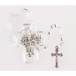 Metal rosary in Cross Box....