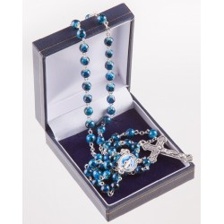 Blue Marble Effect Rosary...