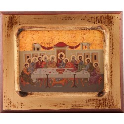 Wood Icon of The Last Supper