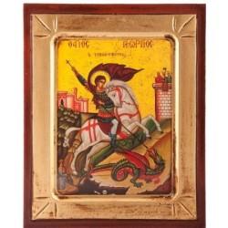 Wood Icon of Saint George