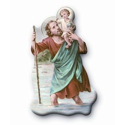 St Christopher Magnetic Plaque