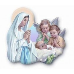 Our Lady/Angels Magnetic Plaque