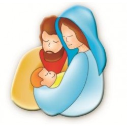 Holy Family Magnetic Plaque