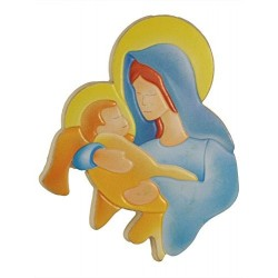 Our Lady And Child Magnetic Plaque