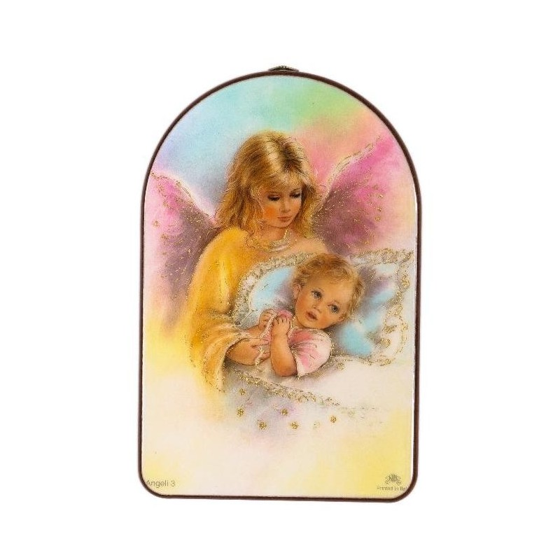 Guardian Angel and Baby Religious Wall Plaque