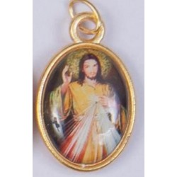 Colour Divine Mercy of Jesus Medal