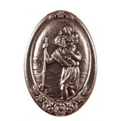 St Christopher magnetic car plaque