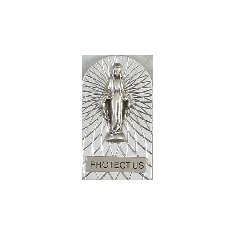 Our lady Immaculate magnetic car plaque