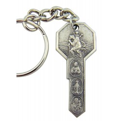 St Christopher 'Key' keyring