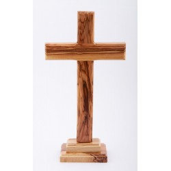 Olive Wood Standing Cross