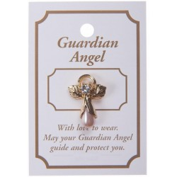 Pink Guardian Angel Lapel Brooch