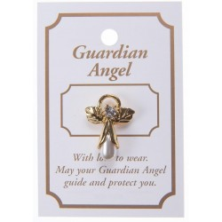 Cream Pearl Guardian Angel Lapel Brooch
