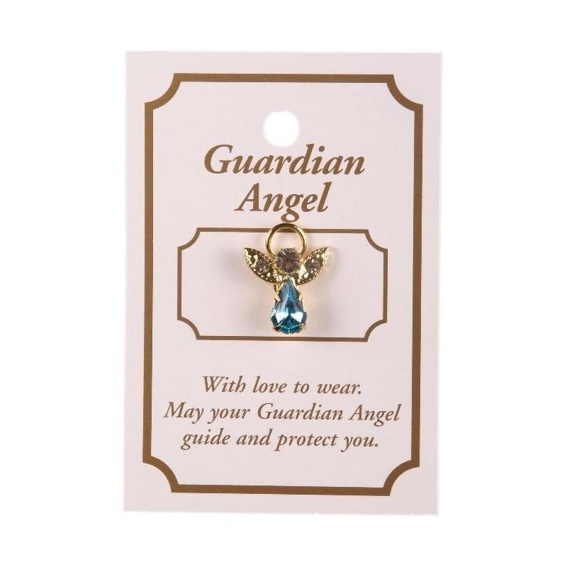 Blue Guardian Angel Lapel Brooch