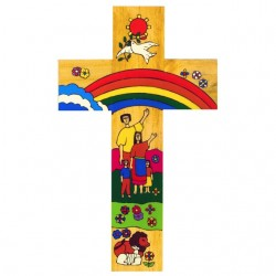 12 cm Rainbow Cross.