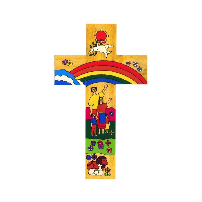 12 cm Rainbow Cross.