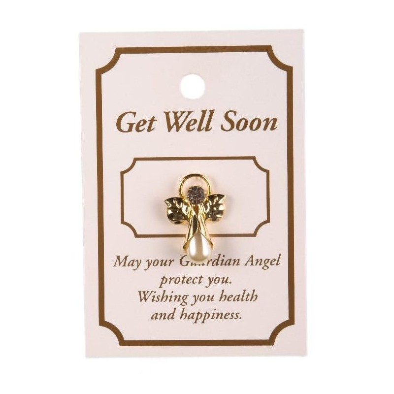 Get Well Guardian Angel Lapel Brooch