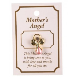 Mother's Guardian Angel Lapel Brooch