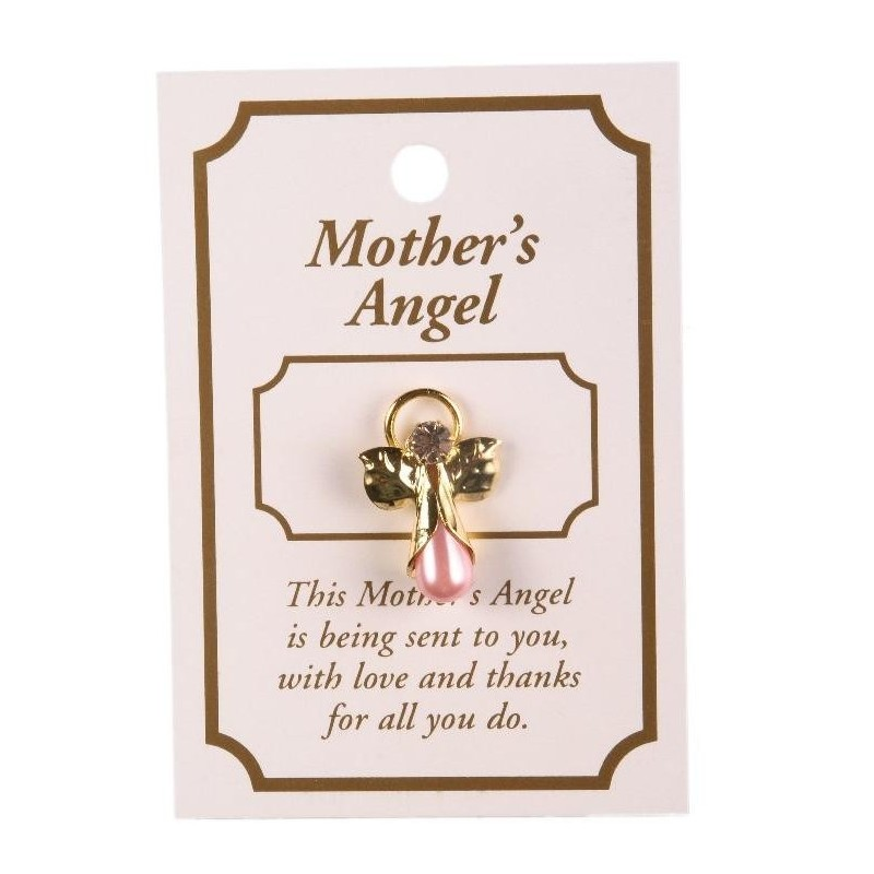 Mother's Guardian Angel Lapel Brooch