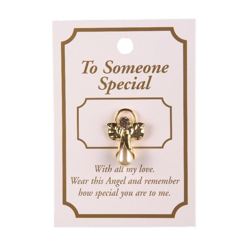Someone Special Guardian Angel Lapel Brooch