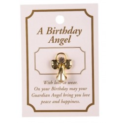 Birthday Guardian Angel Lapel Brooch