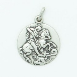 18mm Sterling Silver St George  Medal