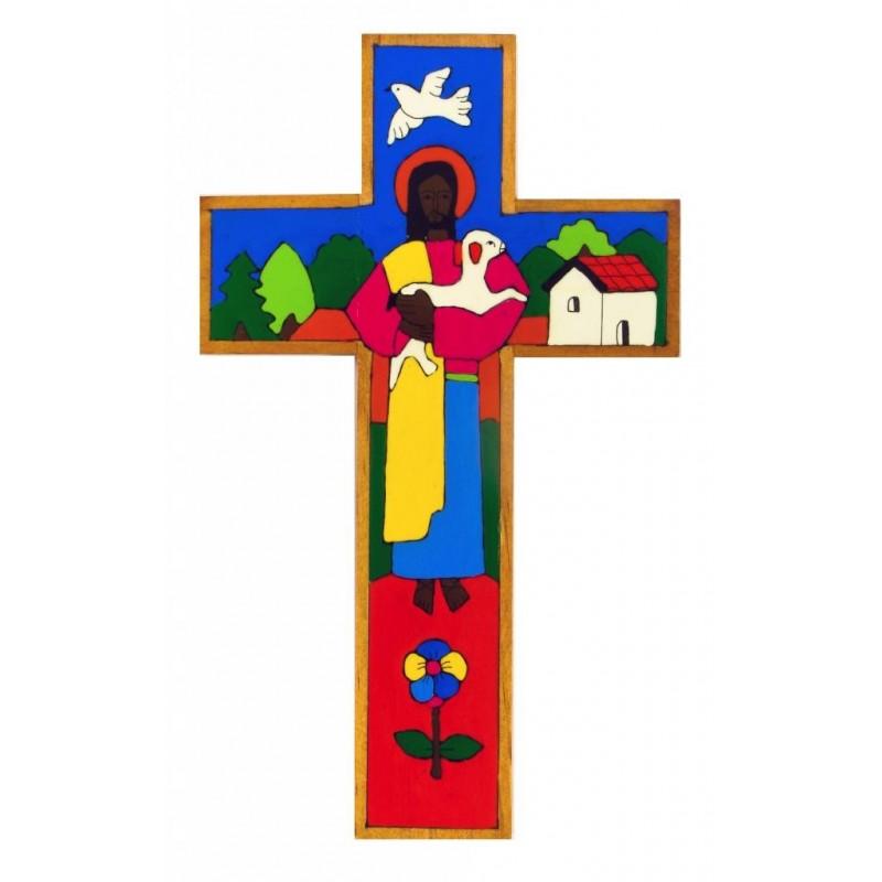 15 cm Traditional Good Shepherd Cross