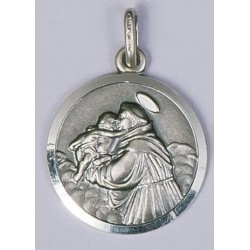18mm Sterling Silver St Anthony Medal and Chain