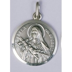 18mm Sterling Silver St Theresa Medal