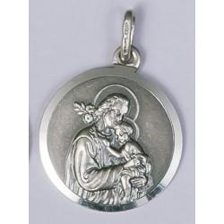 18mm Sterling Silver St Joseph Medal