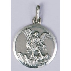 16mm Sterling Silver St Michael Medal and Chain