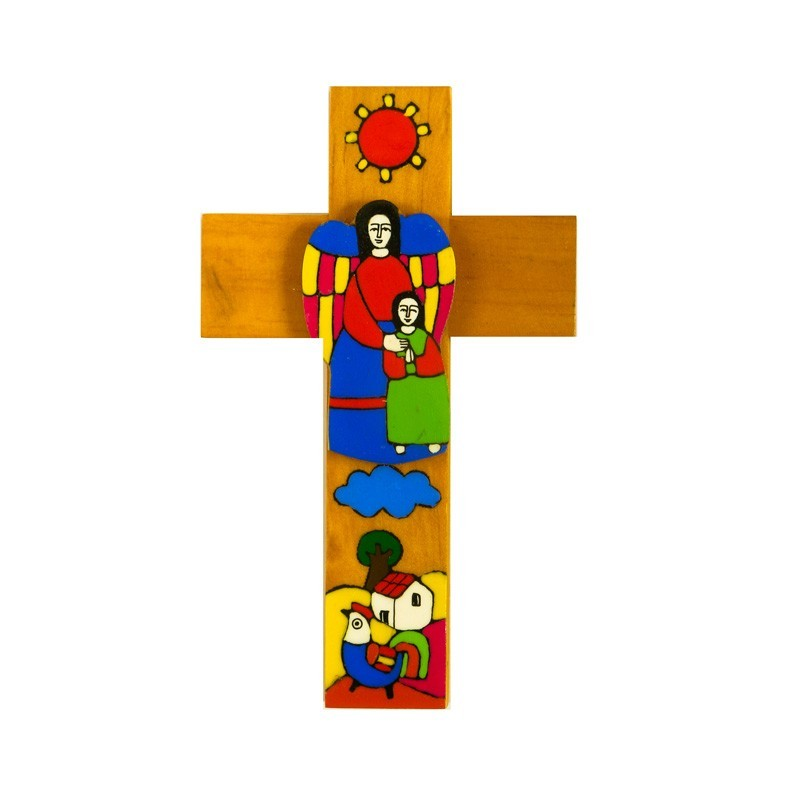15 cm Girl and Guardian Angel Cross