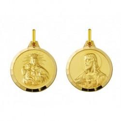 18 mm 9ct Gold Scapular Medal