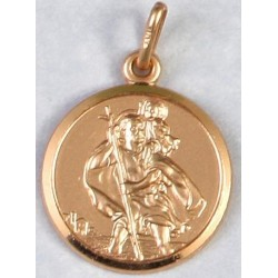 18 mm 9ct Gold Saint Christopher Medal
