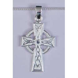 30mm Sterling Silver Celtic Cross and Necklet