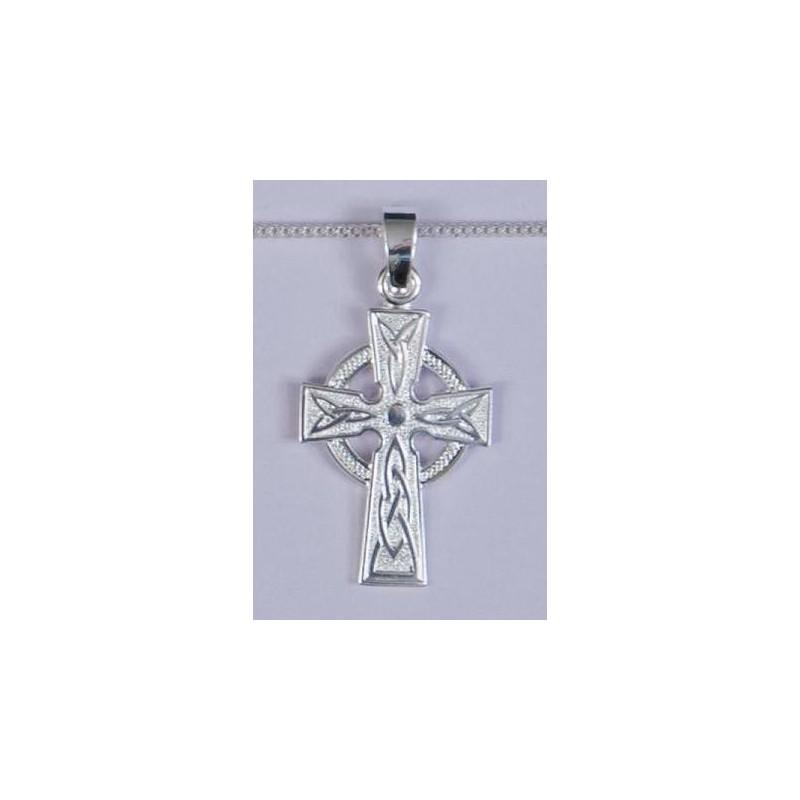 30mm Sterling Silver Celtic Cross and Necklet