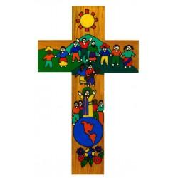10 cm Children of the World United Wood Cross