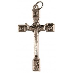 5cm Risen Christ Corpus Metal Crucifix.